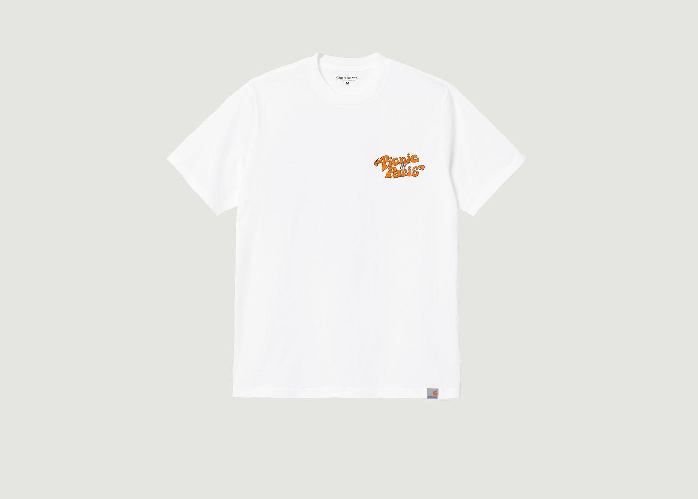 T-shirt imprimé en coton bio Picnic In Paris - Carhartt WIP