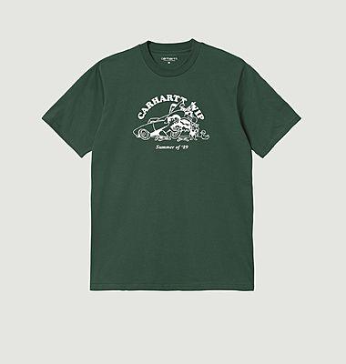 T-shirt imprimé en coton bio Flat Tire