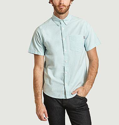 Chemise manches courtes en coton Oxford à poche