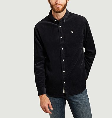 Chemise madison corduroy navy