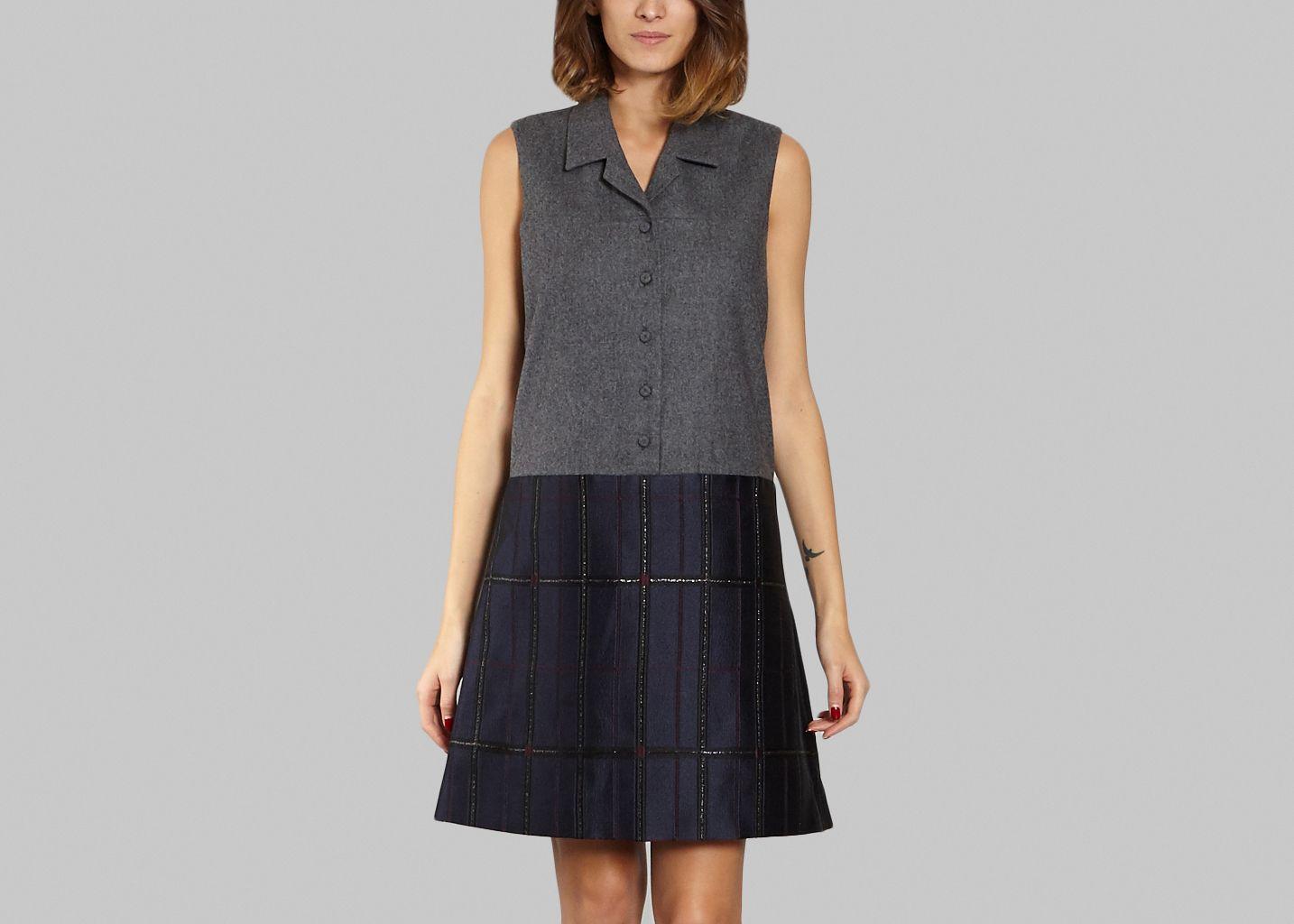 3525fe3636 Jacquard Rive Dress Navy Blue Carven