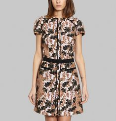 Art Nouveau Floral Printed Dress