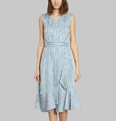 Slik Striped Midi Dress
