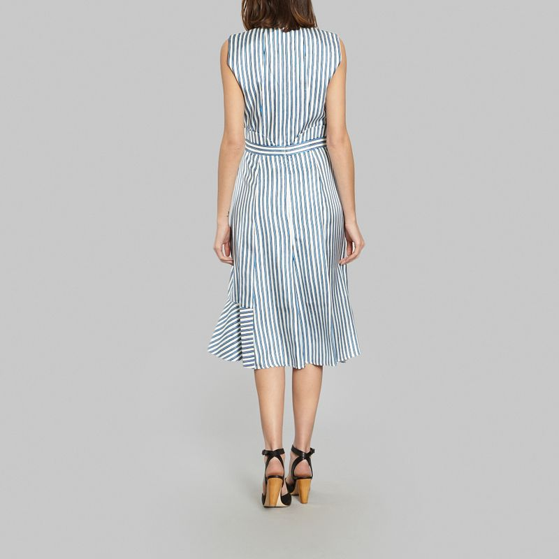 Robe longues rayure soie - Carven
