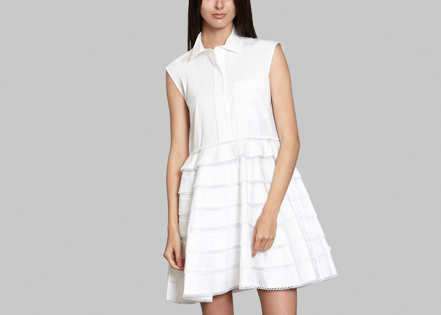 Sale Babydoll Shirt Dress White Carven At 50 Lexception