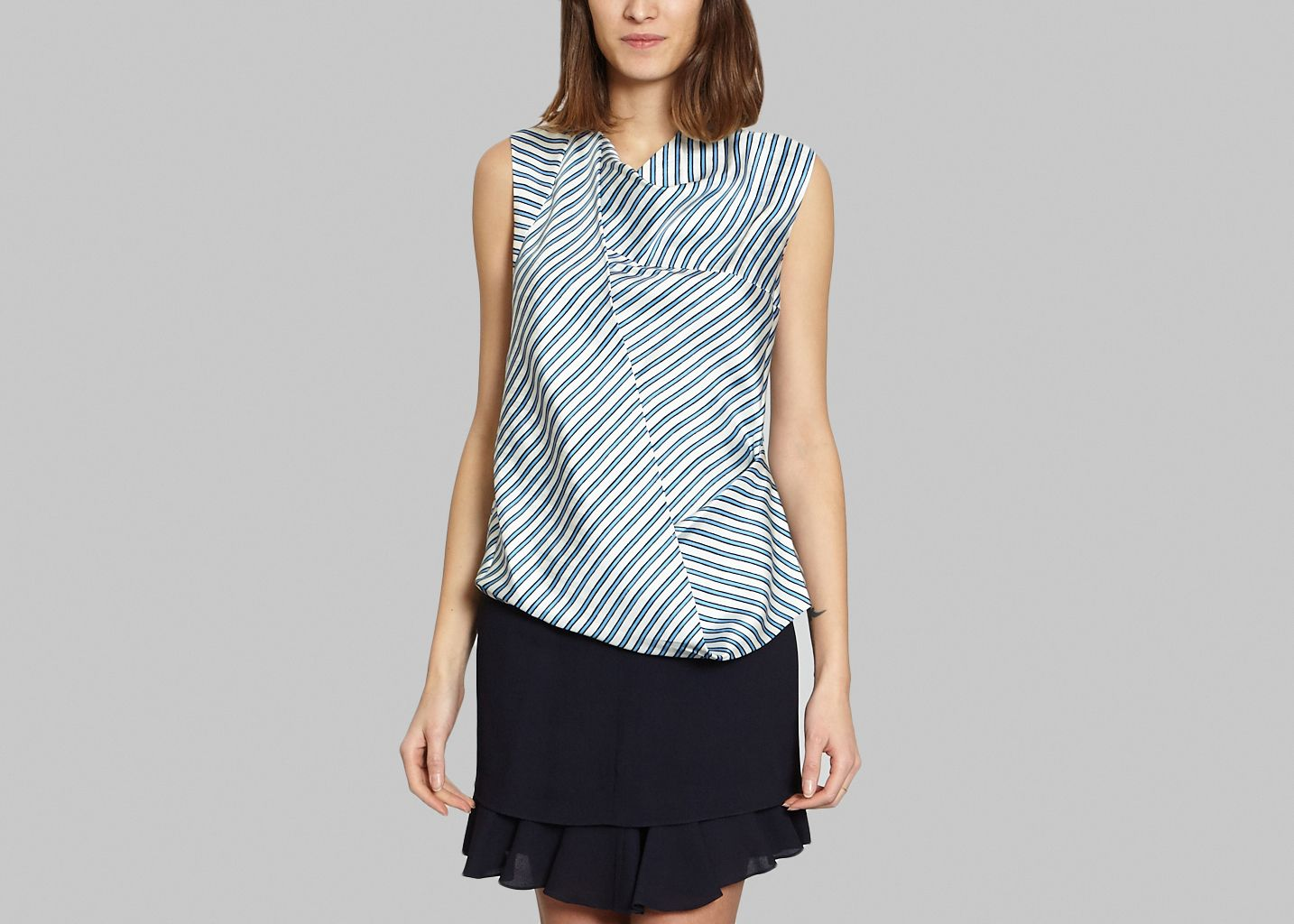 Top Rayures Soie - Carven