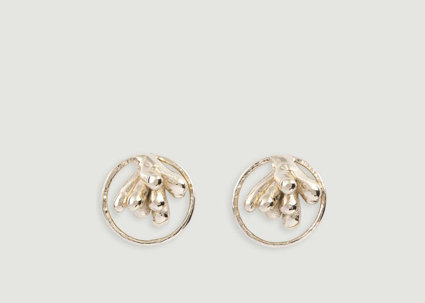 Boucles d'Oreilles Amalgame - Céline Lareynie