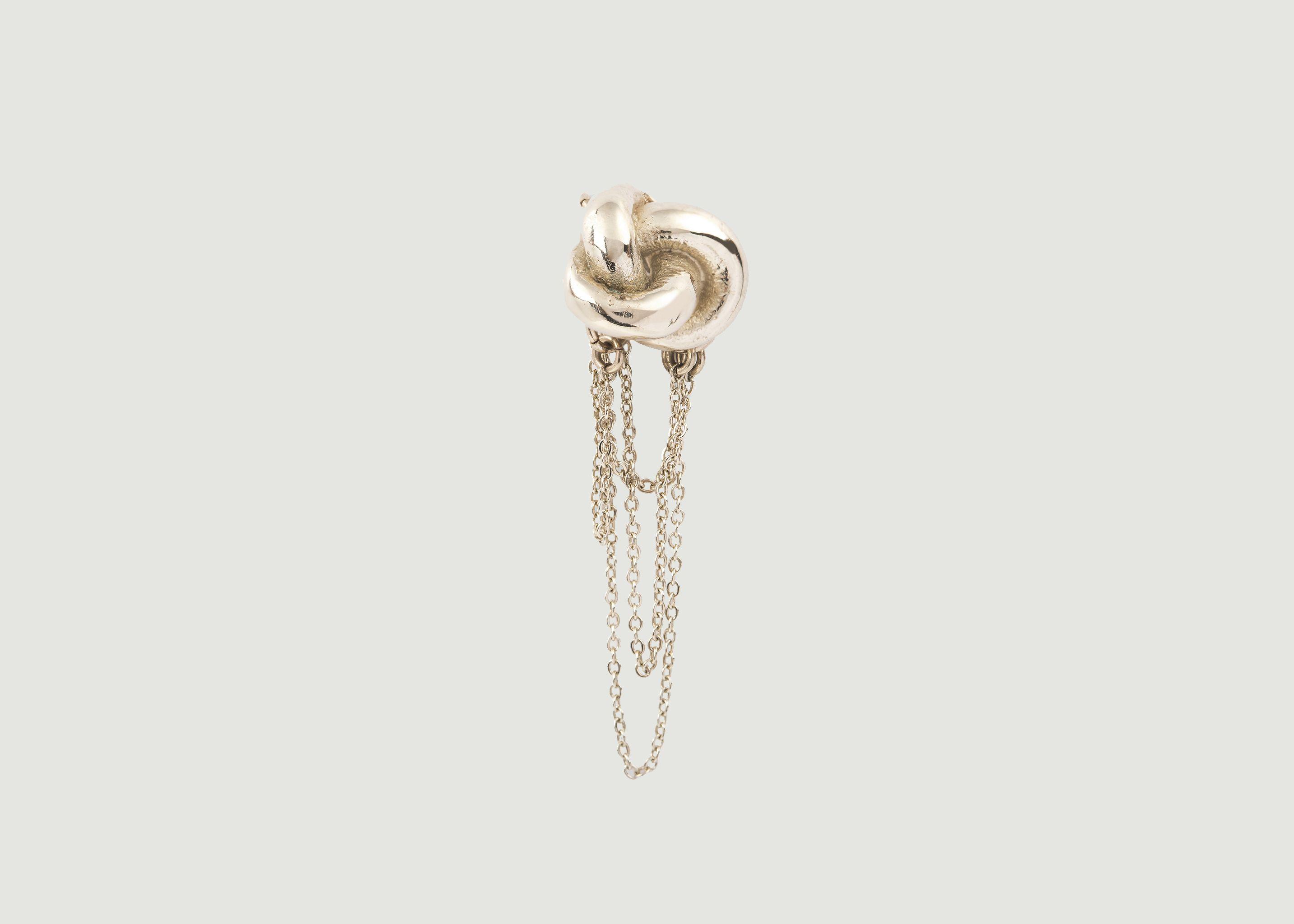 328c98d95 Knot Earrings Gold Céline Lareynie | L'Exception
