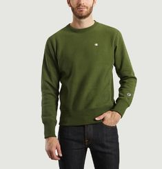 Sweat Col Rond Reverse Weave
