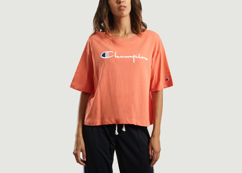 T-Shirt Court Logo Rose Champion   L Exception d289922836ef