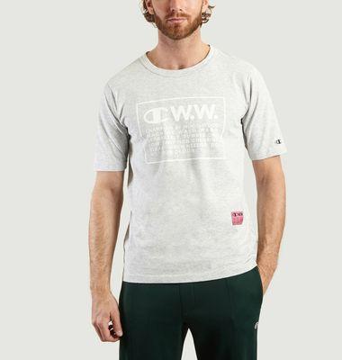 T-shirt Rick Oversize Logo Champion x Wood Wood