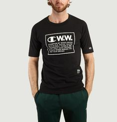 Tshirt MC Rick oversize Logo Champion x Wood Wood