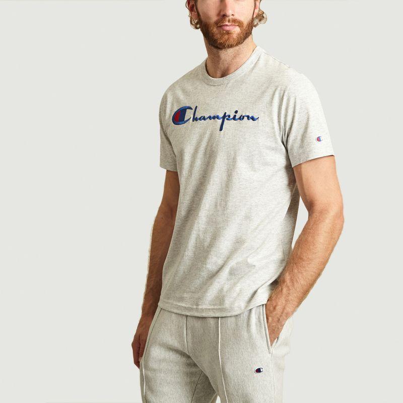 T-Shirt Gros Logo En Coton - Champion