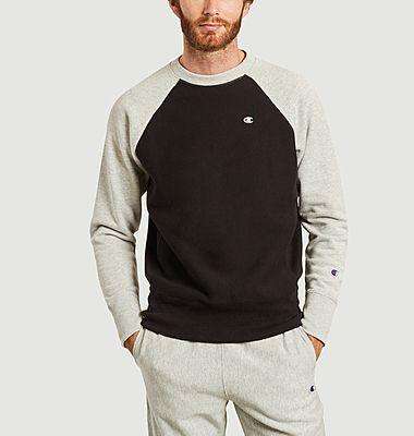 Sweatshirt bicolore siglé