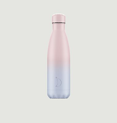 Bouteille réutilisable 500ml Dégradé Poudré Rose / Bleu