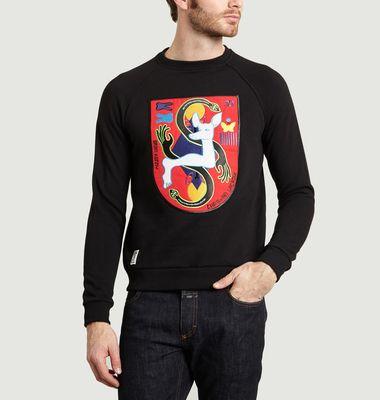 Sweatshirt Mixte Patché Trailing