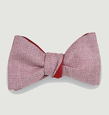 Heather knit bow tie