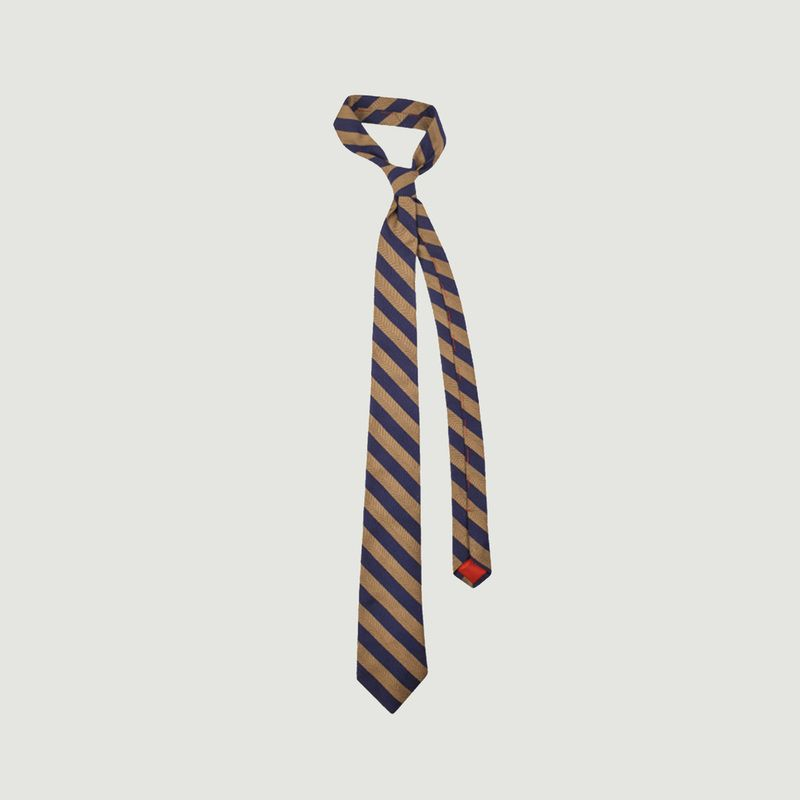 Cravate en soie Club Chevron - Cinabre