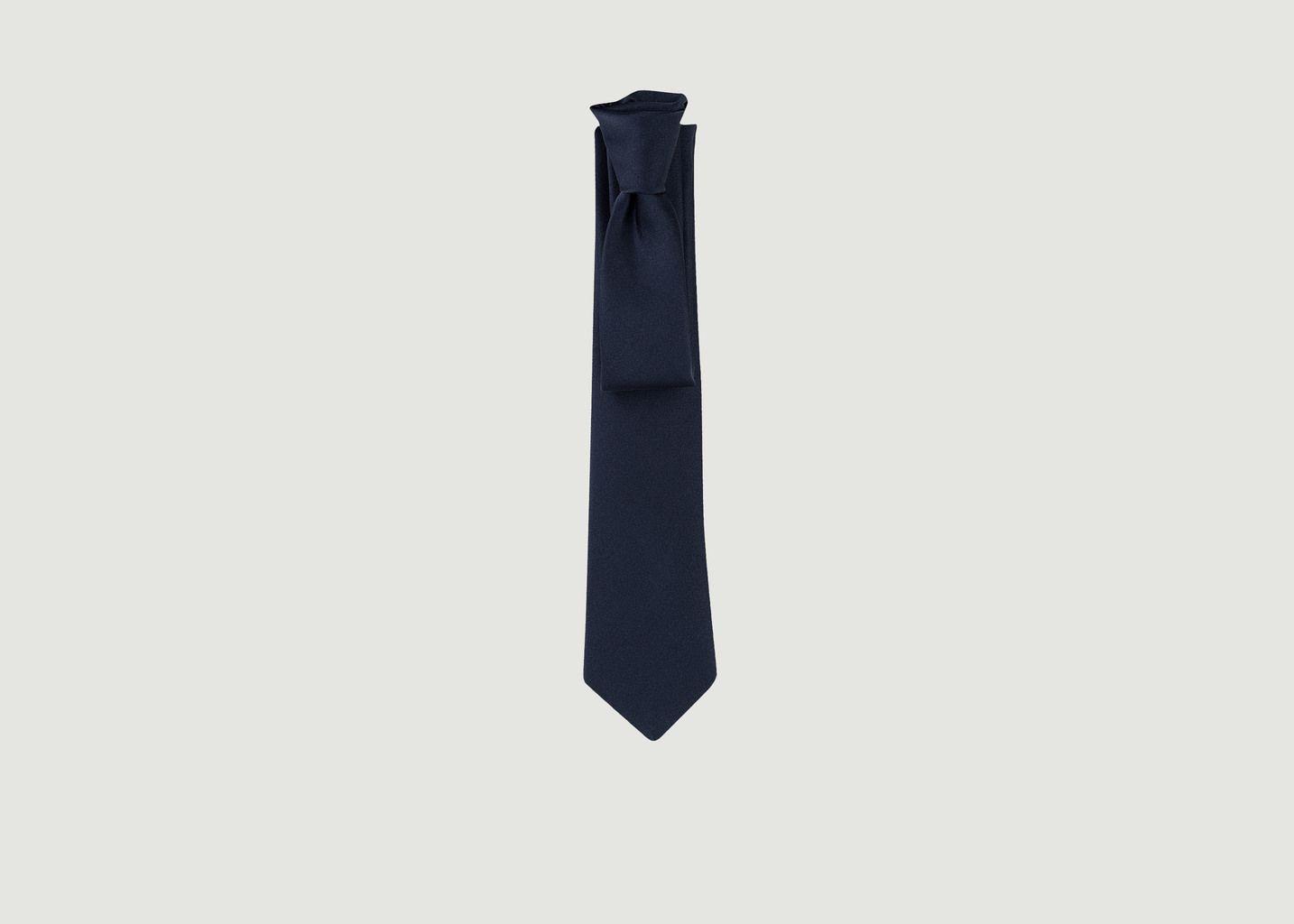 Cravate satin Élysée - Cinabre