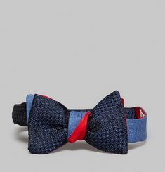 3D Flannel Bow Tie
