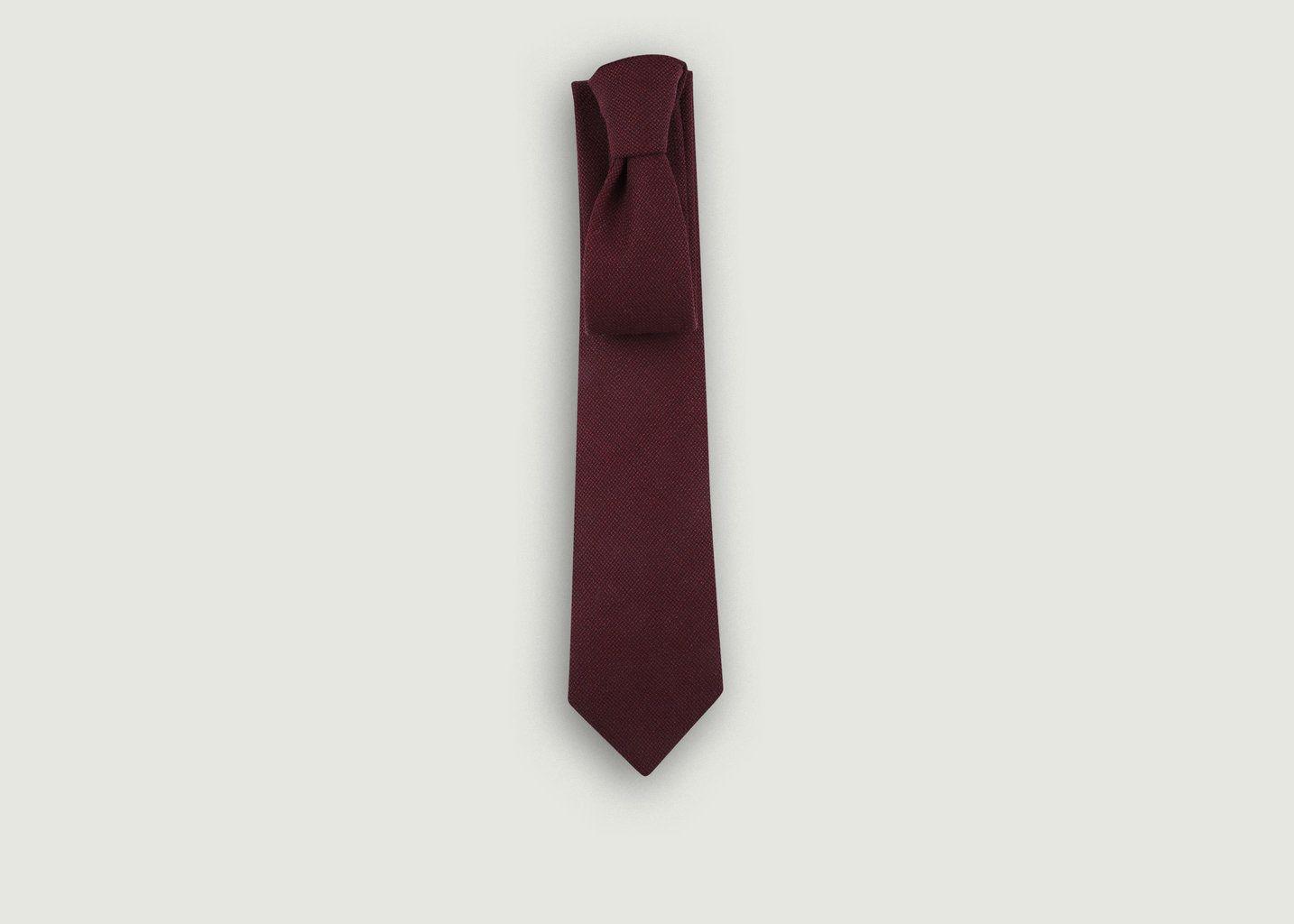 Cravate en Laine Anglaise et Soie - Cinabre
