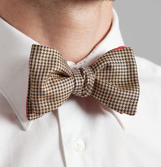 Houndstooth Neck Bow