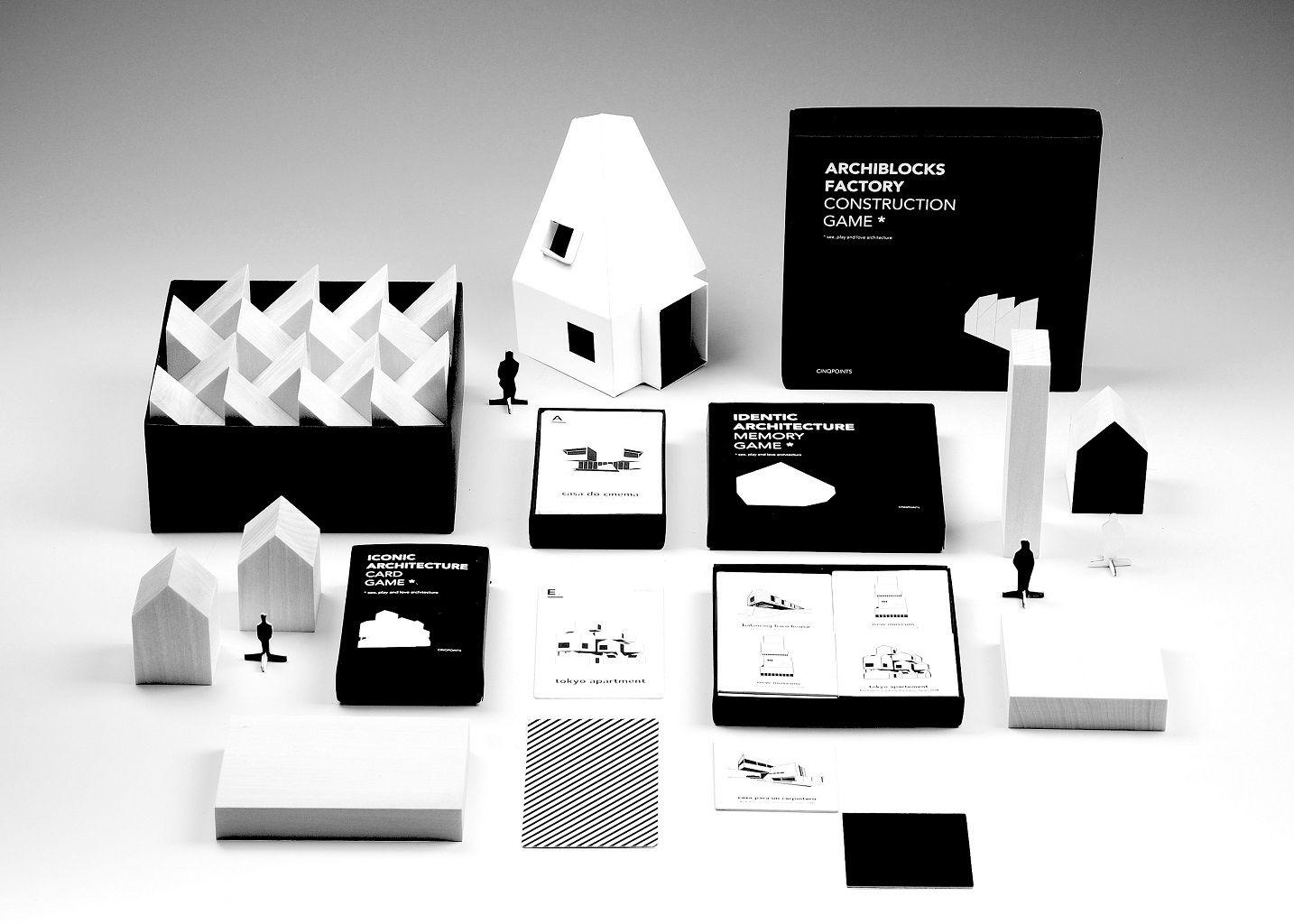 jeu de cartes iconic architecture cinqpoints noir l 39 exception On jeu d architecture