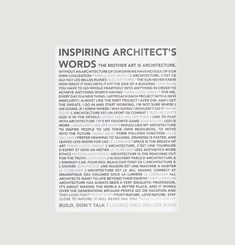 Inspiring Architect's Words Poster