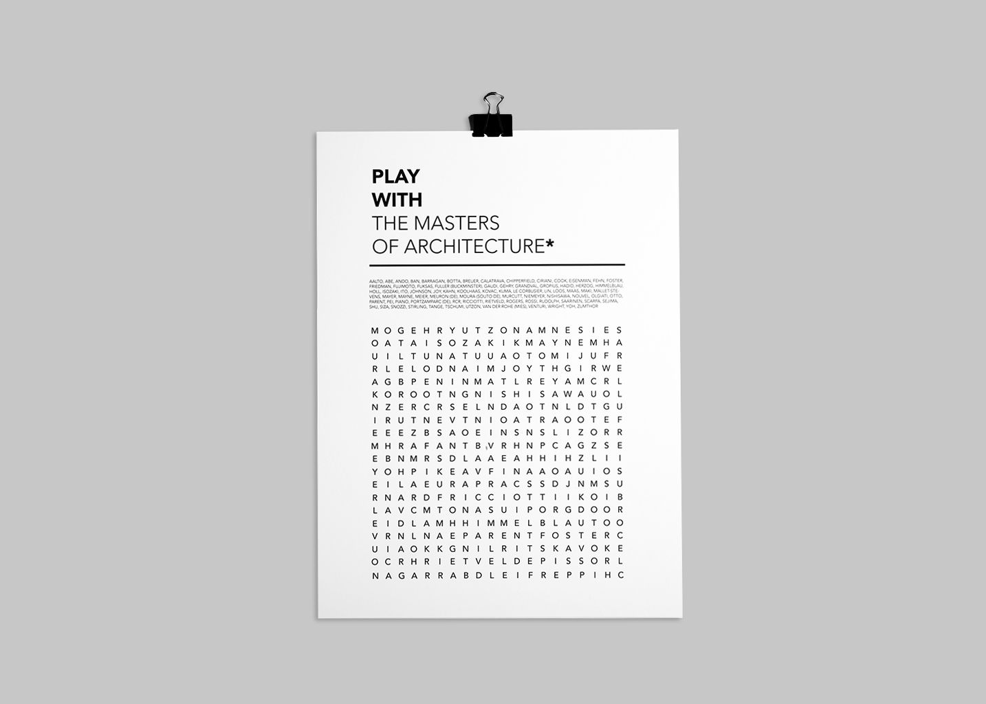 Affiche Play With The Master Of Architecture  - cinqpoints
