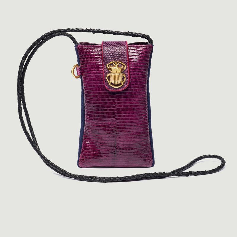 Etui smartphone en cuir de python Marcus - Claris Virot