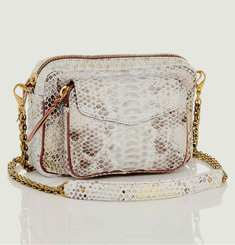 White and Gold Charly Python Bag