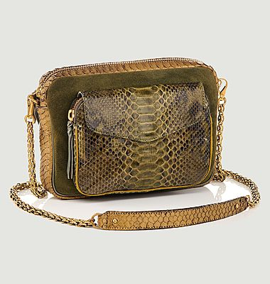 Sac en cuir de python Big Charly