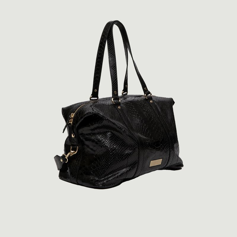 Grand sac cabas en cuir façon python Momos - Clio Goldbrenner