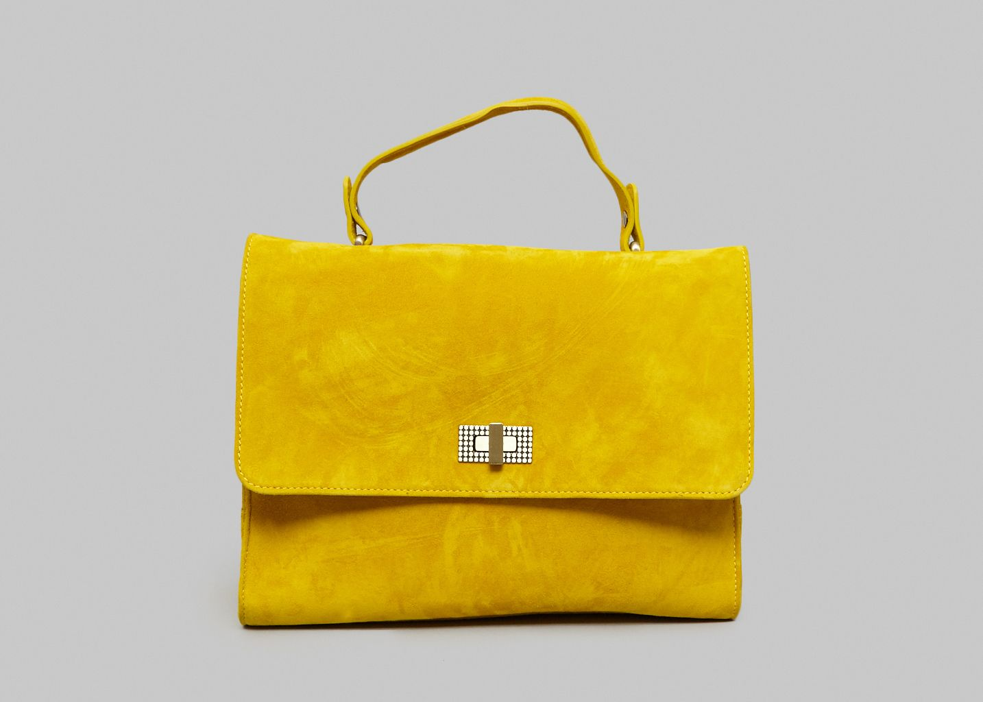 fc000108770 Hippolyte Suede Bag Yellow Clio Goldbrenner