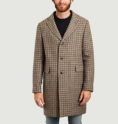 Manteau en laine vierge à carreaux
