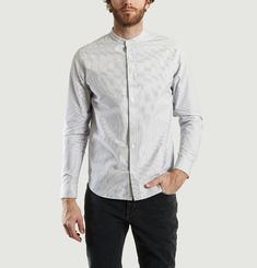 Chemise Col Officier Chambray