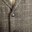 matière Manteau En Laine Vierge Motif Prince-De-Galles - Closed