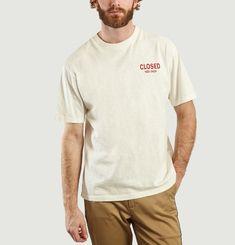 T-Shirt Logotypé En Coton Flammé