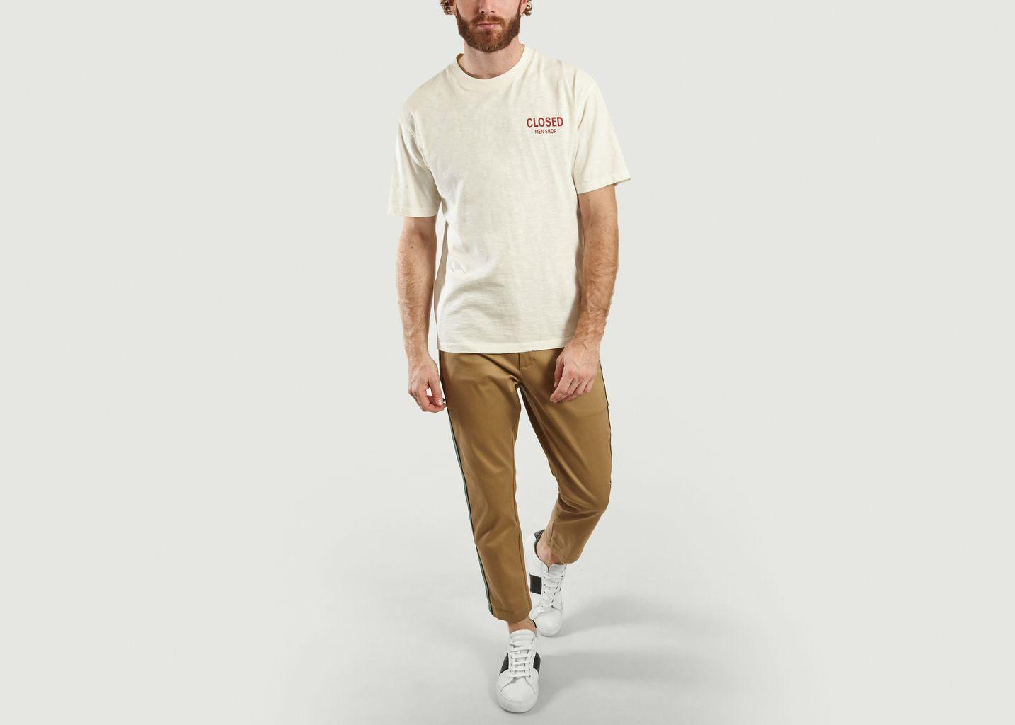 T-Shirt Logotypé En Coton Flammé - Closed
