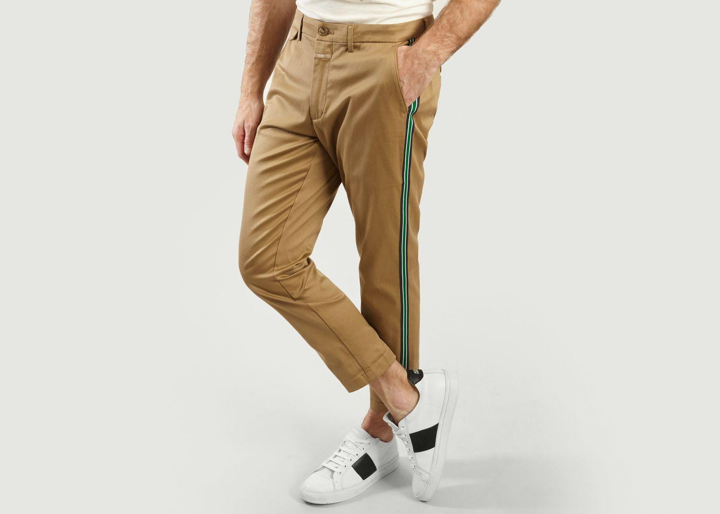 Pantalon Atelier Cropped Avec Bandes Latérales Rayées - Closed
