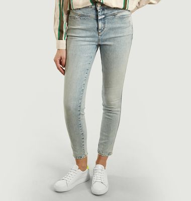Skinny Pusher 7/8th Length Washed-Out Jeans