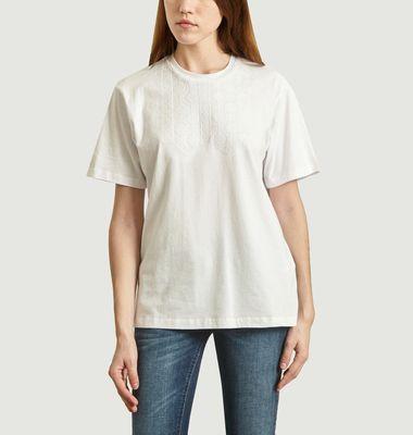 T-Shirt Brodé En Coton