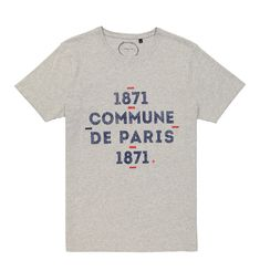TEE TYPO - Gris chine