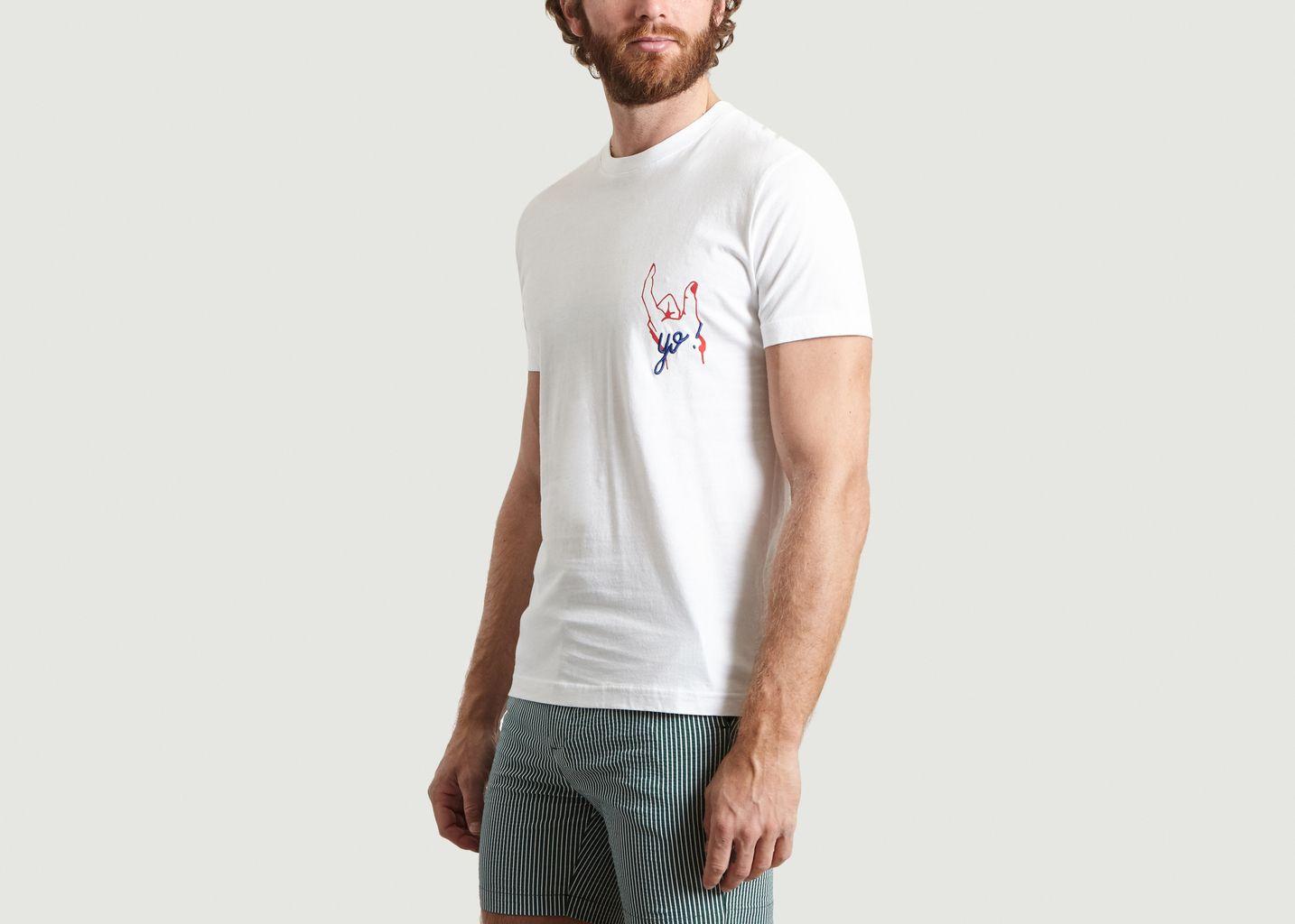 T-Shirt Brodé Et Imprimé Yo - Commune de Paris