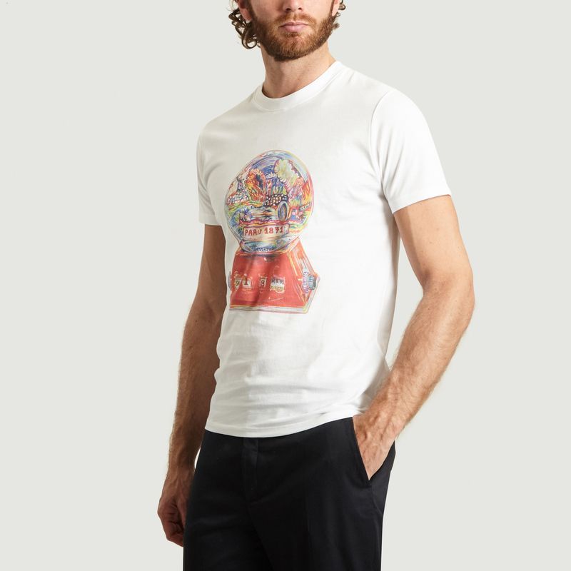 T-Shirt Print Fantaisie Globe - Commune de Paris