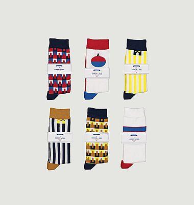 Pack 6 paires de chaussettes