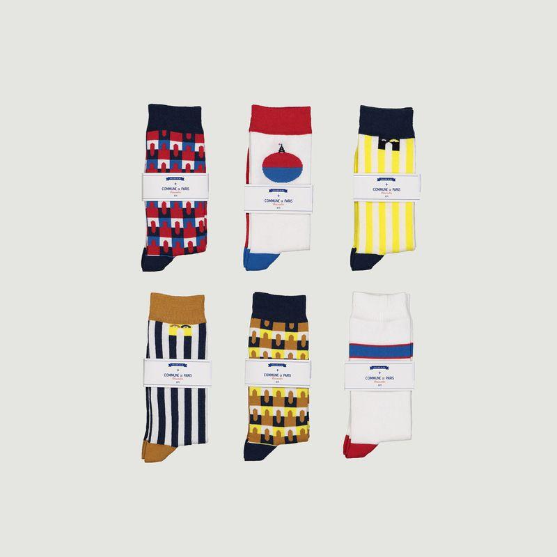 Pack 6 paires de chaussettes - Commune de Paris
