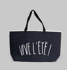 Vive L'Eté Beach Bag