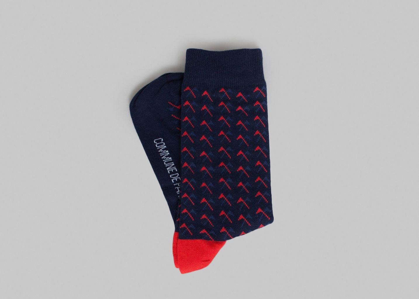 chaussettes etendard commune de paris bleu marine l 39 exception. Black Bedroom Furniture Sets. Home Design Ideas