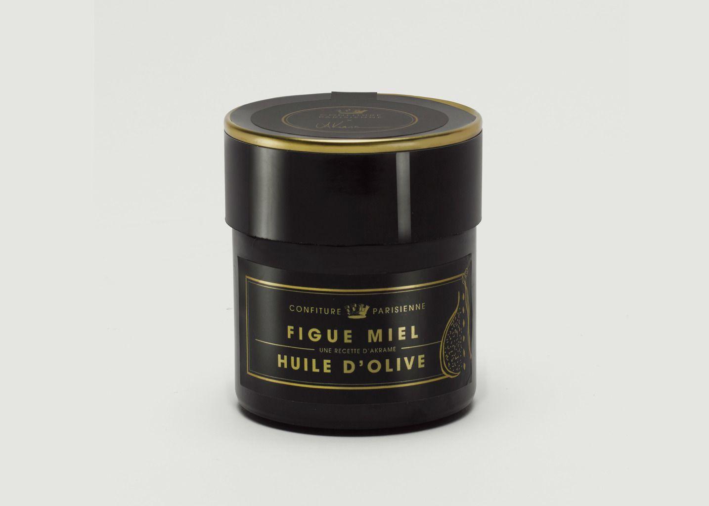 Confiture Figue, Miel, Huile d'Olive 250g - Confiture Parisienne